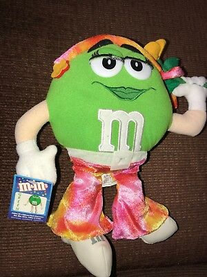 """M&M'S GREEN PLUSH Toy - Mars Character 2003 NANCO 11 1/2"""" - With TAGS"""