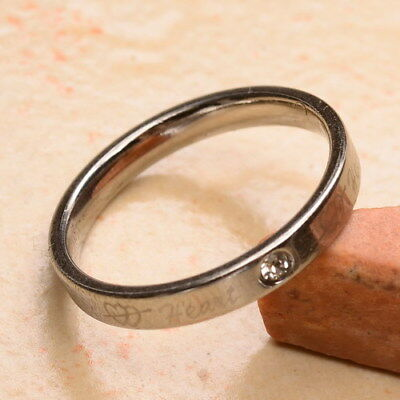 """Fantastic! Carved """"heart"""" Cz Stainless Steel Unisex Fashion Ring Sz 7"""