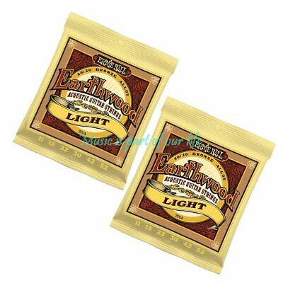 2x 2004 Ernie Ball Earthwood Light 80/20 Acoustic Guitar Strings 11 - 52 2sets