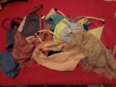 VICTORIAS SECRET NWT Wholesale Lot of 50  Unlined Bralette Bras Mixed XS S -NWT
