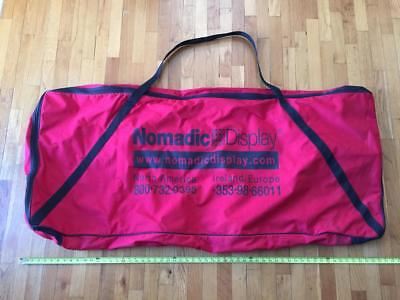 Nomadic Tradeshow Display Travel Case Zippered Bag Carry Straps Booth Trade Show