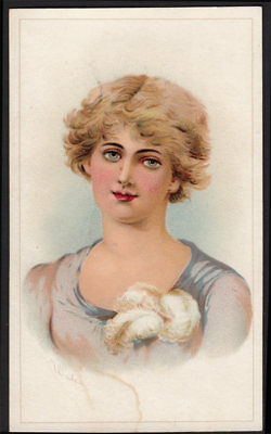 Arbuckle's Ariosa Coffee Scarce 1890's Victorian Trade Card VTG Woman Art 03