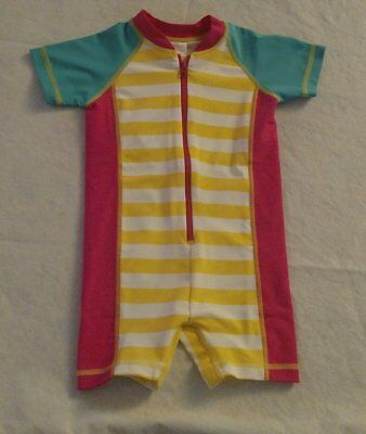 NWT Hanna Andersson Striped Swimmy Rash Guard 1PC Swimsuit Baby Toddler Girl