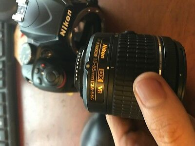 Nikon D3400 24MP Digital SLR Camera + 18-55mm f/3.5-5.6G VR AF-P DX Nikkor Lens