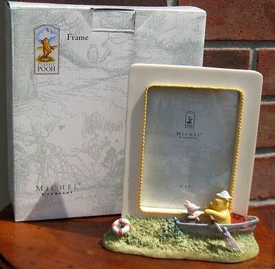Michel & Co. Classic Winnie Pooh & Piglet Row Boat Picture Frame Baby Nursery