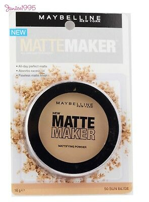 MAYBELLINE Matte Maker Mattifying Powder #50 SUN BEIGE