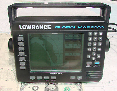 Lowrance GLOBAL MAP 2000 MULTIFUNCTION GPS CHARTPLOTTER DISPLAY-12 Photos-L@@K!!