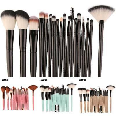 Cosmetic Makeup Brush Set Shadow  Soft Tool Foundation Powder Eyebrow Kit 18 pcs