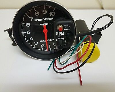 Auto Meter Sport Comp Monster Tacho Complete With Shift Light 3904.