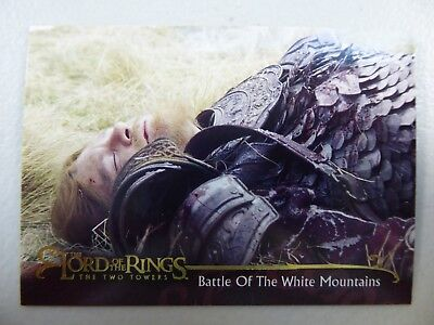 TOPPS Lord of the Rings: The Two Towers - Card #51 BATTLE OF THE WHITE MOUNTAINS