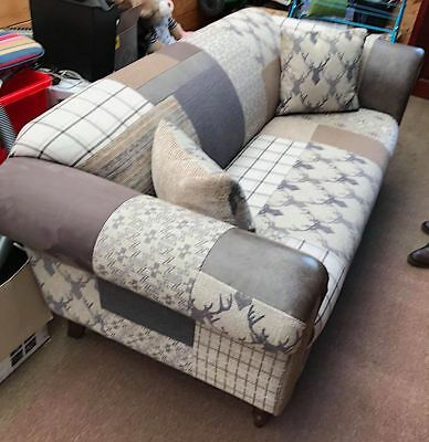 Dfs Chesterfield Style Country Patchwork Midi Sofa Settee Stag
