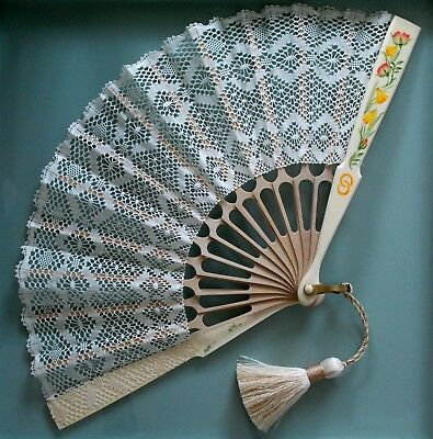 Hand Made Torchon Lace Fan