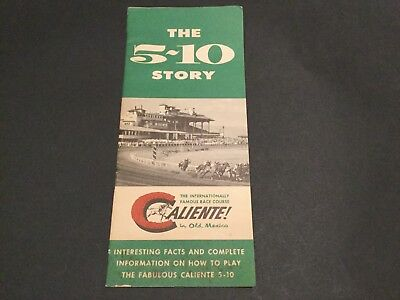 """""""caliente"""" --  The 5 - 10 Story""""  Booklet On Winning A Jackpot."""