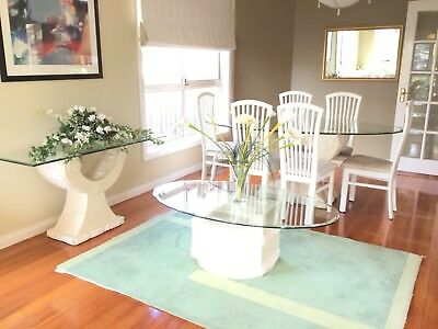 Italian Fossil Stone Furniture Pkg - Dining Table, Centre Table & Console Table