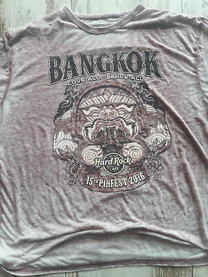 Hard Rock Cafe T Shirt, Bangkok, XXL, Ror-Melange