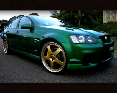"""Genuine Simmons 22"""" staggered Wheel Tyre package Commodore VE VF 22x8.5"""" 22x9.5"""
