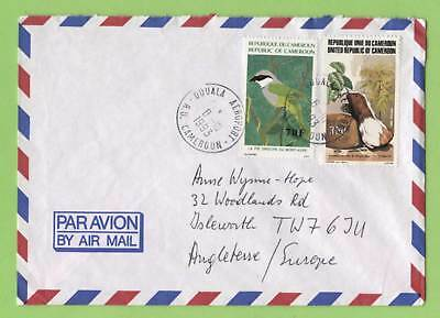 Cameroon 1993 two stamp commercial airmail cover to England