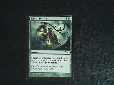 4 PLAYED SYLVAN Scrying - Green Mirrodin Mtg Magic Uncommon