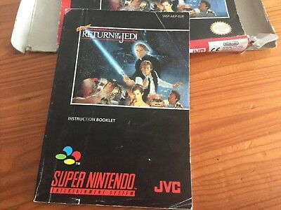Super Nintendo Super Return of the Jedi - Box & Instruction Booklet Only