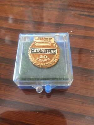 Vintage 14kt Solid Gold Caterpillar 20 Years of Service Employee Award Pin