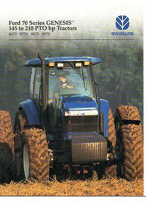 ford new holland genesis tractor brochure 1995 9 95 picclick rh picclick com Used Ford Diesel Tractor Engines New Holland Remanufactured Engines