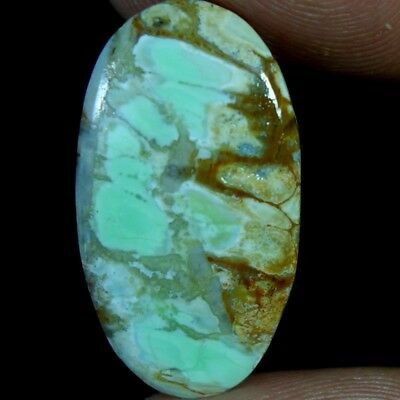 10.85Ct 100% Natural Variscite Turquoise Oval Cabochon Quality Loose Gemstones