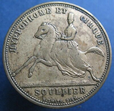 Old Hyppodrome and Circus token - Soullier - Premiere -more on ebay.pl