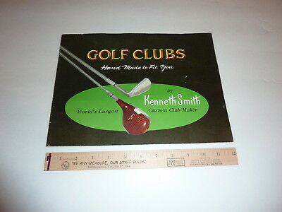 1962 - KENNETH SMITH GOLF CLUB Sales Manual Book Very Rare  See Extensive Photos