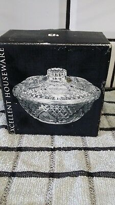 vintage sugar bowl with lid new boxed.