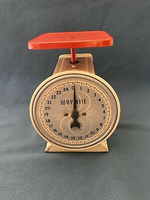 Vintage Hanson Scale Co. 'Way Rite' Household Scale with 25lb Capacity