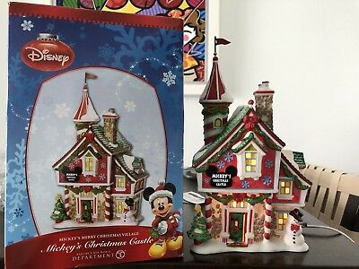 Department 56 | Disney MICKEY'S CHRISTMAS CASTLE | Holiday Village | RETIRED