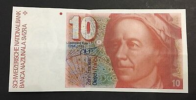 Switzerland 10 francs 1980 Banknote  Suisse Paper money