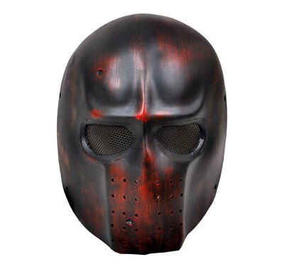 Dark Red Full Face Wire Mesh Protection Airsoft Paintball Mask PROP Cosplay M616