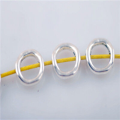 Wholesale 50pcs Tibetan Silver Beads Round Findings Crafts Spacer Charms 11mm