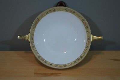 vintage hand painted Nippon white gold handle dish bowl beautiful RC