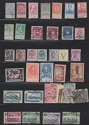 collection of Belgium, some  Locomotives and overprints  2 scans