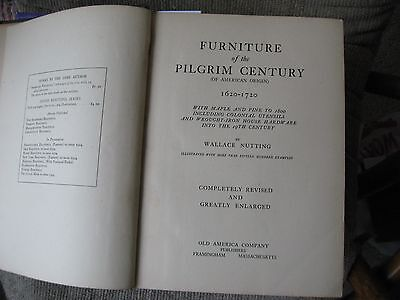 Vintage Furniture of the Pilgrim Century, Wallace Nutting, 1924 edition