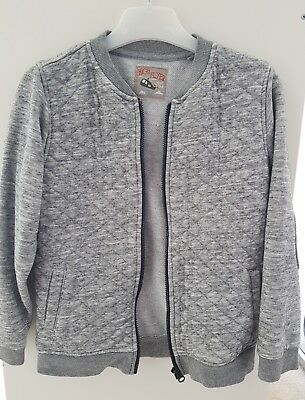boys grey quilted lightweight jacket 5-6 years