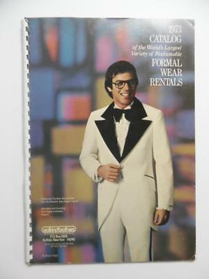 1973 Wolkind Brothers Men's Formal Wear Tuxedo Style Book Catalog Vintage BIG