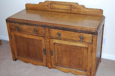 Oak sideboard 1920s or 1930s up cycle upcycle or enjoy as vintage antique piece.