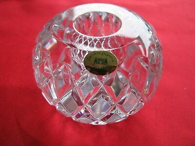 vintage Irish crystal ( Tyrone crystal candle holder /stick )  waterford