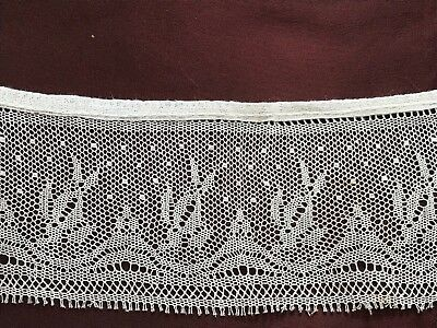 """Beautiful 1910's-1920's Lace Edging 20"""" by 2 1/2"""" - probably done for collar"""