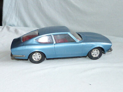 Joustra Fiat Dino Coupe Modell Blech Auto France Tin Toy Car Friction 25cm