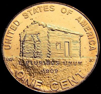 Uncirculated 2009-P Philadelphia Mint Log Cabin Lincoln Cent 1C Bu Vdb Penny