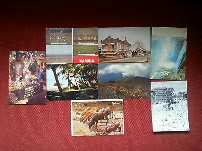 8 postcards Zambia Malawi Sierra Leone + stamps Africa job lot collection
