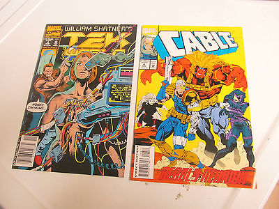 Lot 2 * Marvel Comics *cable *1993 # 4 & Tekworld 1992 # 3 F/f