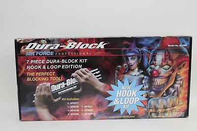 BNIB DURA-BLOCK AF44HL EVA Rubber 7-Piece Hook & Loop Sanding Block Set w/Soap