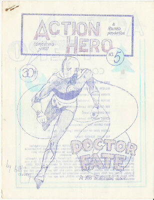 Early Comics Fanzine ACTION HERO #5 - Nov-Dec, 1964 - Bill Dubay
