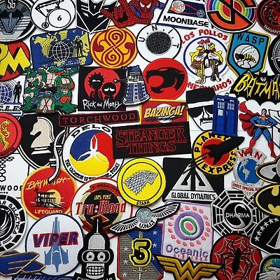 GREAT TV SHOW PATCHES - Embroidered Iron-On Television Patch Collection - NEW