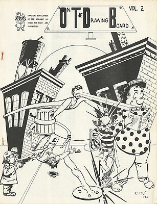 Early Fanzine ON THE DRAWING BOARD Vol. 2 No. 7 - #55 - 1966 - Bob Schoenfeld